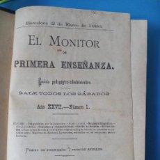 Libros antiguos: EL MONITOR DE PRIMERA ENSEÑANZA - BARCELONA 1886. Lote 238081860