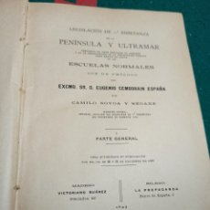 Libros antiguos: LEGISLACIÓN DE 1° ENSEÑANZA DE LA PENÍNSULA Y ULTRAMAR. CAMILO NOVOA Y SEOANE 1897. Lote 239454275