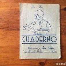 Libros antiguos: CUADERNO ESCOLAR , AÑO 1958. Lote 239588145