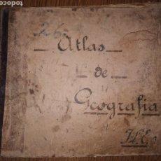 Libros antiguos: ANTIGUO ATLAS DE GEOGRAFÍA. Lote 239870040