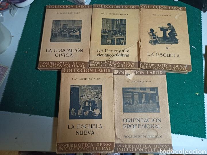 LOTE COLECCIÓN LABOR EDUCACIÓN, ENSEÑANZA ESCUELA. 5 LIBROS. VER FOTOS (Libros Antiguos, Raros y Curiosos - Libros de Texto y Escuela)
