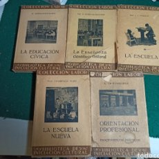 Libros antiguos: LOTE COLECCIÓN LABOR EDUCACIÓN, ENSEÑANZA ESCUELA. 5 LIBROS. VER FOTOS. Lote 242061455