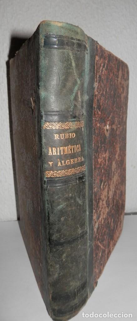 ANTIGUO LIBRO DE ARITMÉTICA Y ALGEBRA - 1889 (Libros Antiguos, Raros y Curiosos - Libros de Texto y Escuela)