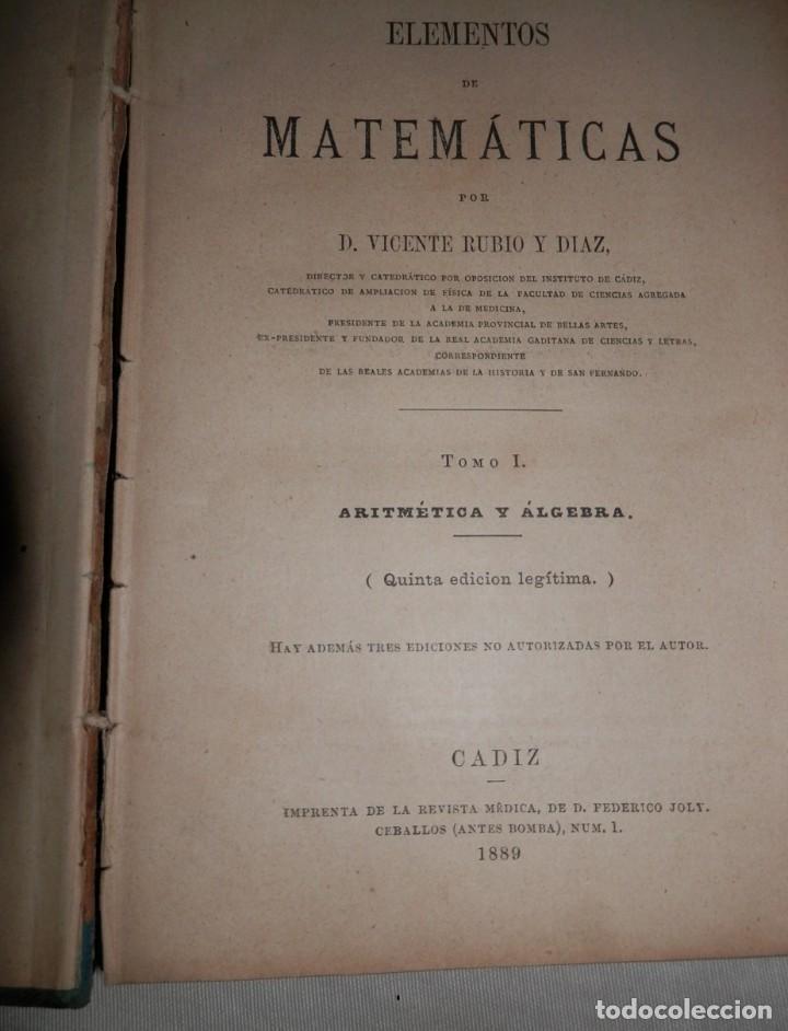 Libros antiguos: ANTIGUO LIBRO DE ARITMÉTICA Y ALGEBRA - 1889 - Foto 5 - 243219260