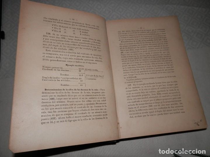 Libros antiguos: ANTIGUO LIBRO DE ARITMÉTICA Y ALGEBRA - 1889 - Foto 6 - 243219260