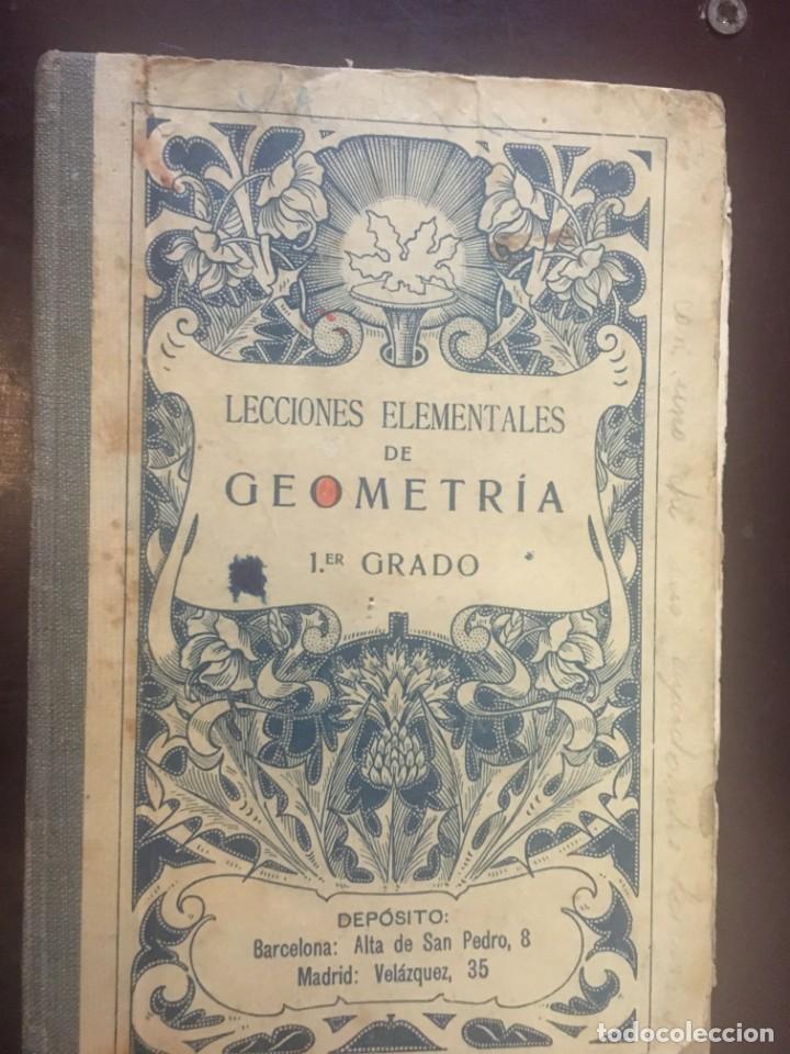 LIBRO LECCIONES ELEMENTALES DE GEOMETRIA 1 GRADO. EDITÓ BRUÑO. 1923 (Libros Antiguos, Raros y Curiosos - Libros de Texto y Escuela)