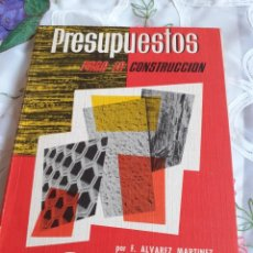 Libros antiguos: PRESUPUESTOS PARA LA CONSTRUCCION. Lote 246086500