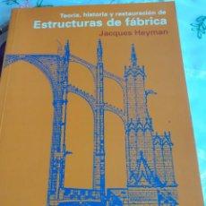 Libros antiguos: ESTRUCTURAS DE FABRICA. Lote 246089225