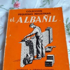 Libros antiguos: EL ALBAÑIL. Lote 246092650