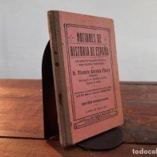 Livres anciens: NOCIONES DE HISTORIA DE ESPAÑA - VICENTE BARONA CHERP - CURSO 1920/1921, 4ª EDICION, JATIVA. Lote 251495280
