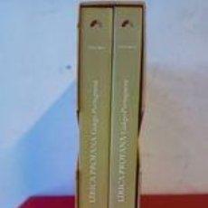 Libros antiguos: LÍRICA PROFANA GALEGO-PORTUGUESA, TOMOS I Y II / CON ESTUCHE / CORPUS COMPLETO DAS CANTIGAS MEDIEVAI. Lote 251828975