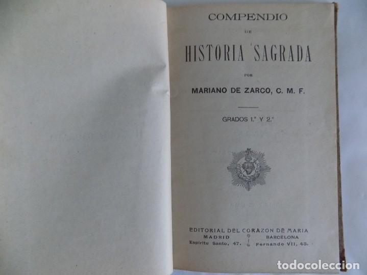 Libros antiguos: LIBRERIA GHOTICA. MARIANO DE ZARCO. COMPENDIO DE HISTORIA SAGRADA. GRADOS 1 Y 2.1900.MUCHOS GRABADOS - Foto 2 - 253118285
