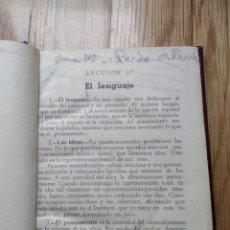 Libros antiguos: LIBRO DE TEXTO LENGUA CASTELLANA 1929 O ANTERIOR.42 LECCIONES Y LECTURAS. Lote 253722020