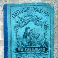 Libros antiguos: FÁBULAS DE SAMANIEGO - PARA ESCUELAS DE INSTRUCCIÓN PRIMARIA - MANUEL ROSADO, MADRID, 1878. Lote 254006195