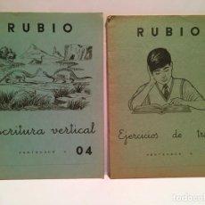 Libros antiguos: CUADERNO CARTILLA ESCUELA RUBIO EJERCICIOS AÑO 1963. Lote 254033080