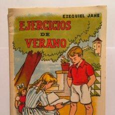 Libros antiguos: CUADERNO CARTILLA ESCUELA SALVATELLA EJERC. DE VERANO AÑOS 50. Lote 254033700
