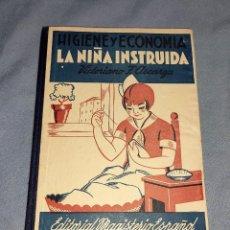 Libros antiguos: LA NIÑA INSTRUIDA HIGIENE Y ECONOMIA VICTORIANO F. ASCARGA. Lote 254881405