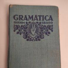 Libros antiguos: GRAMÁTICA: SEGUNDO GRADO. (1931). POR F.T.D.. Lote 254978495