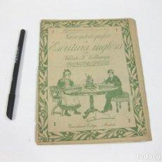 Libros antiguos: CUADERNO DE CALIGRAFÍA 1. NUEVO MÉTODO GRÁFICO DE ESCRITURA INGLESA. VICENTE F. VALLICIERGO. CALLEJA. Lote 255966625