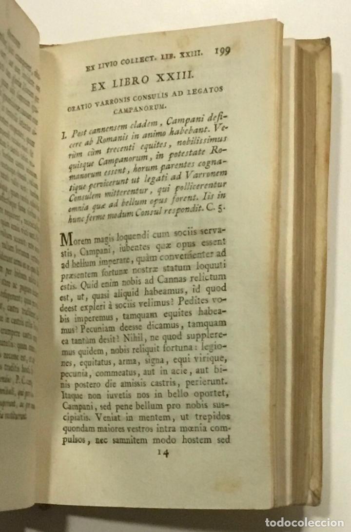 Libros antiguos: ORATIONES EX SALLUSTII LIVII TACITI ET CURTII HISTORIIS COLLECTAE AD USUM REGIARUM SCHOLARUM... 1802 - Foto 3 - 261188055