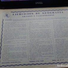 Libros antiguos: EJERCICIOS DE GEOGRAFIA- ARAGON Y VASCONGADAS - COMPLETO. Lote 261251080