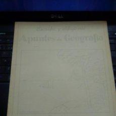 Libros antiguos: APUNTES DE GEOGRAFÍA. POR LUIS MALLAFRÉ. CUADERNO 1º ESPAÑA. CURSO DE 193... EDITORIAL ROMA. Lote 261251645