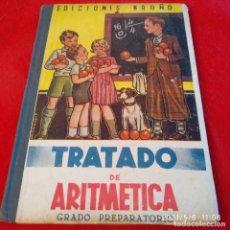 Libros antiguos: TRATADO DE ARITMÉTICA, GRADO PREPARATORIO, EDIC. BRUÑO, 109 PÁGINAS, EN PASTA DURA.. Lote 261350635