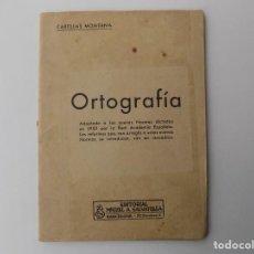 Libros antiguos: LIBRERIA GHOTICA. CARTILLAS MONTANA. ORTOGRAFIA. EDITORIAL MIGUEL A. SALVATELLA. 1955. ILUSTRADO.. Lote 261814065