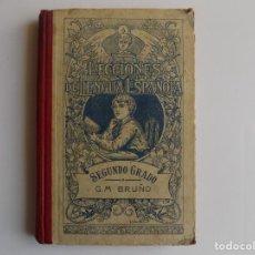 Libros antiguos: LIBRERIA GHOTICA. LECCIONES DE LENGUA ESPAÑOLA. SEGUNDO GRADO. G.M. BRUÑO. 1935.ILUSTRADO.. Lote 262053190