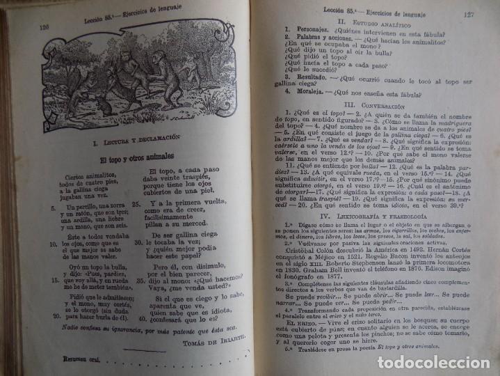 Libros antiguos: LIBRERIA GHOTICA. LECCIONES DE LENGUA ESPAÑOLA. SEGUNDO GRADO. G.M. BRUÑO. 1935.ILUSTRADO. - Foto 2 - 262053190