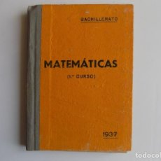 Libros antiguos: LIBRERIA GHOTICA. AMOS SABRAS. ARITMETICA Y GEOMETRIA. MATEMATICAS PRIMER CURSO. 1937.ILUSTRADO.. Lote 262053515