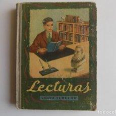 Libros antiguos: LIBRERIA GHOTICA. LECTURAS. LIBRO TERCERO. 1948. MUY ILUSTRADO. EDELVIVES. ESCUELA.. Lote 262076365