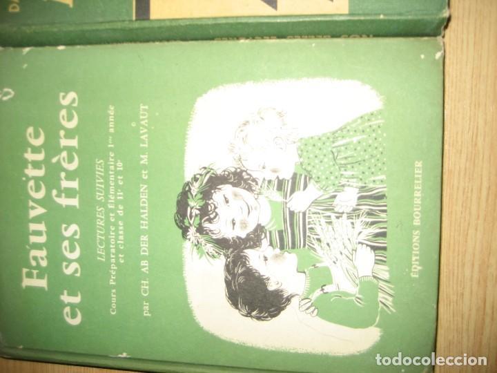 Libros antiguos: lote 3 libros escolares de lectura en frances año 1932 33 - ed bourrelier , nathan 1960 , escuela - Foto 2 - 265767379