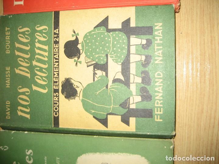 Libros antiguos: lote 3 libros escolares de lectura en frances año 1932 33 - ed bourrelier , nathan 1960 , escuela - Foto 3 - 265767379