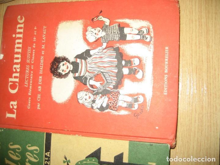 Libros antiguos: lote 3 libros escolares de lectura en frances año 1932 33 - ed bourrelier , nathan 1960 , escuela - Foto 4 - 265767379