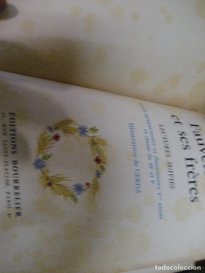 Libros antiguos: lote 3 libros escolares de lectura en frances año 1932 33 - ed bourrelier , nathan 1960 , escuela - Foto 5 - 265767379