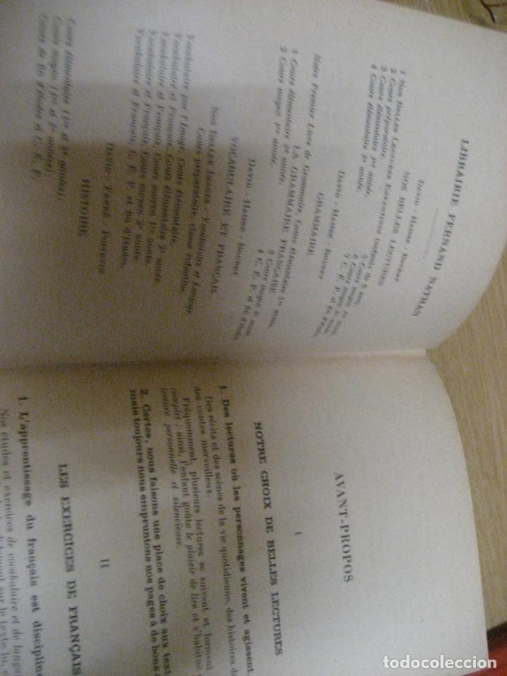 Libros antiguos: lote 3 libros escolares de lectura en frances año 1932 33 - ed bourrelier , nathan 1960 , escuela - Foto 13 - 265767379