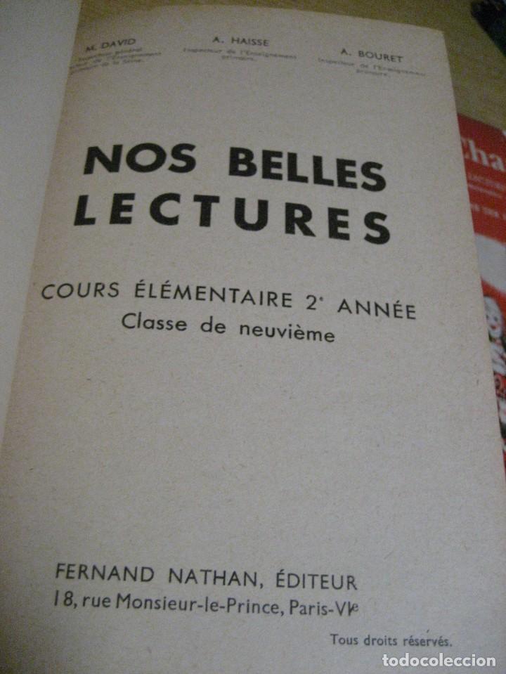 Libros antiguos: lote 3 libros escolares de lectura en frances año 1932 33 - ed bourrelier , nathan 1960 , escuela - Foto 14 - 265767379