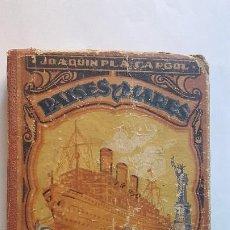 Libros antiguos: PAISES Y MARES. JOAQUIN PLA CARGOL. TERCER MANUSCRITO. 1944. Lote 268995939