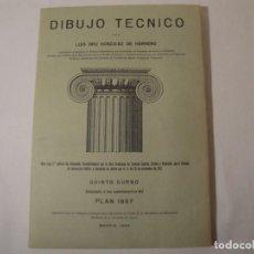 Libros antiguos: DIBUJO TÉCNICO. 24 LÁMINAS. LUIS BRU GONZÁLEZ DE HERRERO. QUINTO CURSO. 3ª EDICIÓN. EDITADO EN 1963. Lote 269573983