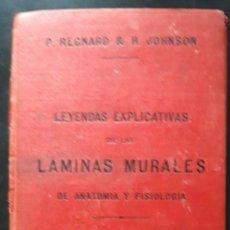 Libros antiguos: 1 LIBRITO DE ** LEYENDAS EXPLICATIVAS LAMINAS MURALES DE ANATOMIA Y FISIOLOGIA ** . -1888 PARIS. Lote 269640453