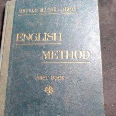 Libros antiguos: ENGLISH METHOD , FIST BOOK , MÉTODO MASSÉ - AÑO 1923. Lote 269680033