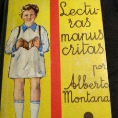 Libros antiguos: LECTURES MANUSCRITAS - SALVATELLA 1935. Lote 269681673