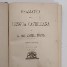 Libros antiguos: 1880 GRAMATICA DE LA LENGUA CASTELLANA POR LA REAL ACADEMIA ESPAÑOLA NUEVA EDICION (VILA Y ALGORRI). Lote 270621518