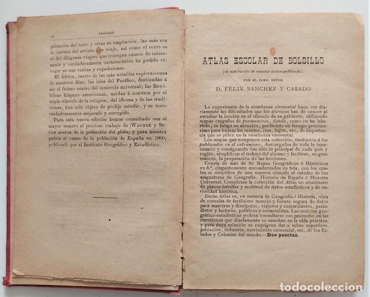 Libros antiguos: ELEMENTOS DE GEOGRAFÍA COMPARADA - ENRIQUE SÁNCHEZ Y RUEDA - LIBRERÍA HERNANDO, MADRID 1904 - Foto 5 - 276911428