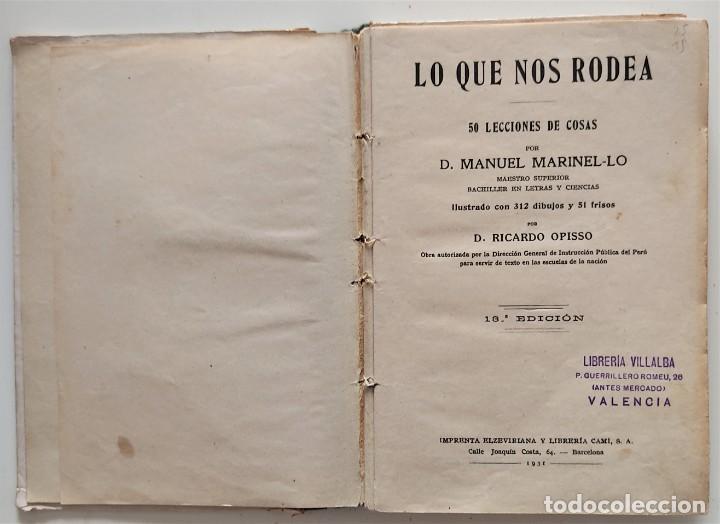 Libros antiguos: LO QUE NOS RODEA, 50 LECCIONES DE COSAS - MANUEL MARINEL-LO - DIBUJOS OPISSO - AÑO 1931 - Foto 4 - 276911928