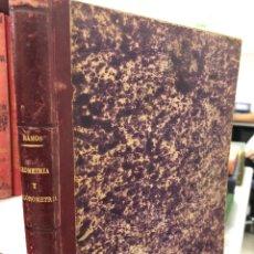 Livres anciens: 1890 RAMOS - GEOMETRIA Y TRIGONOMETRÍA - FIRMA DEL ANTERIOR PROPIETARIO EN LA PRIMERA PÁGINA. Lote 277438233