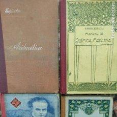 Libros antiguos: LOTE 4 ANTIGUOS LIBROS TEXTO ARITMÉTICA, QUÍMICA, CONTABILIDAD Y GRÁMÁTICA. Lote 284751708
