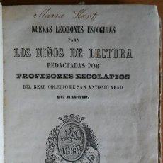 Libros antiguos: LECCIONES DE LECTURA PARA LOS NIÑOS. P. ESCOLAPIOS. BARCELONA, 1863.. Lote 285633333