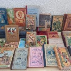 Livros antigos: GRAN LOTE COLECCIÓN DE ANTIGUOS LIBROS ESCOLARES. Lote 286628208